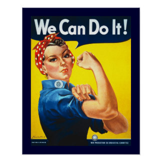 Rosie the Riveter Vintage Poster