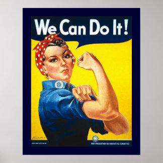 Rosie the Riveter Vintage Poster