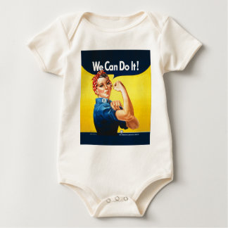 "Rosie the Riveter ""We Can Do It!"" Baby Bodysuit"