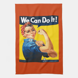 Rosie the Riveter We Can Do It Kitchen Towel