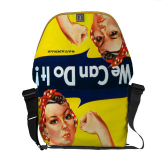 Rosie the Riveter We Can Do It Messenger Bag