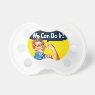 """Rosie the Riveter – """"We Can Do It!"""" Pacifiers"""