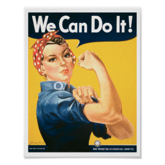 Rosie the Riveter We Can Do It Poster
