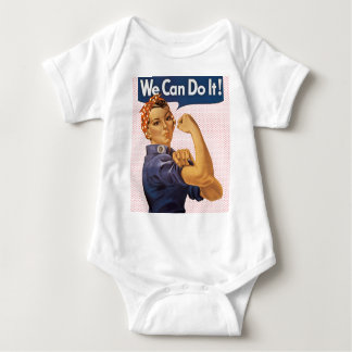 Rosie the Riveter We Can Do It Red Polka Dots Baby Bodysuit