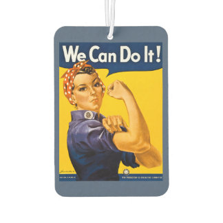 Rosie the Riveter We Can Do It Retro Vintage Car Air Freshener