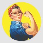 Rosie the Riveter, We Can Do It! Classic Round Sticker