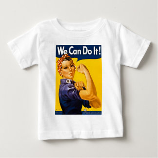 Rosie the Riveter We Can Do It Vintage Baby T-Shirt