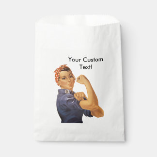 Rosie the Riveter We Can Do It Vintage Custom Text Favour Bag