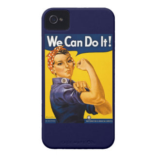 Rosie the Riveter We Can Do It Vintage iPhone 4 Case-Mate Cases