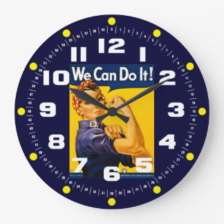 Rosie the Riveter We Can Do It! Vintage Large Clock
