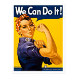 Rosie the Riveter We Can Do It Vintage Postcard