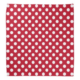 Rosie the riveter white polka dots on red bandana