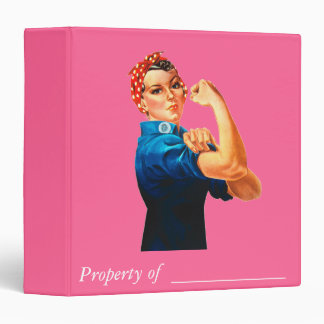 Rosie The Riveter WWII Poster 3 Ring Binder