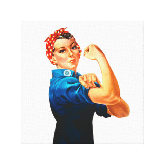 Rosie The Riveter WWII Poster Canvas Print