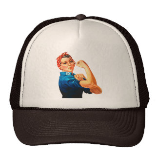 Rosie The Riveter WWII Poster Hats