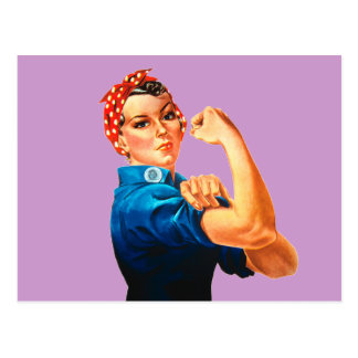 Rosie The Riveter WWII Poster Post Cards