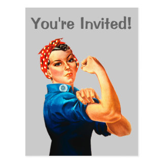 Rosie The Riveter WWII Poster Postcards