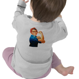 Rosie The Riveter WWII Poster Tshirts