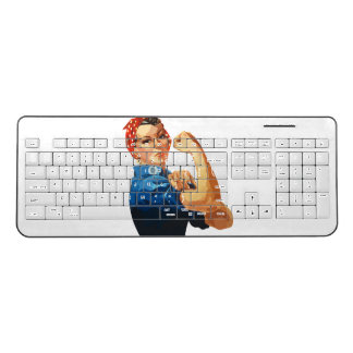 Rosie The Riveter WWII Wireless Keyboard