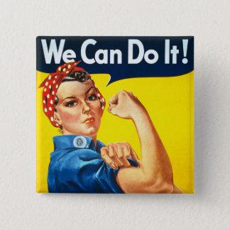 Rosie the Rivetter 2 Inch Square Button
