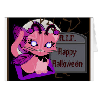 Rosie Toon Kitty Fairy Kitten with Tomb Card