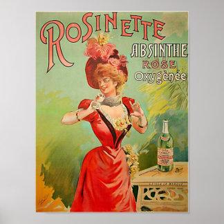 Rosinette Absinthe 1823 Poster