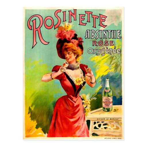 Rosinette Absinthe Rose Oxygénée Postcard