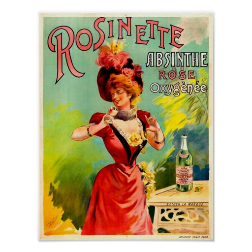 Rosinette Absinthe Rose Oxygénée Print