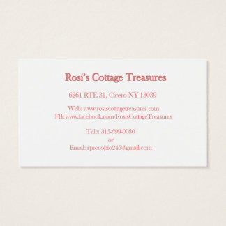 Rosi's Cottage Treasures Business Cards