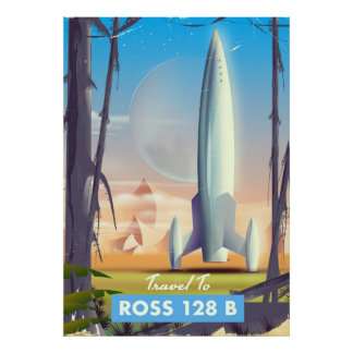 Ross 128 B Science fiction poster