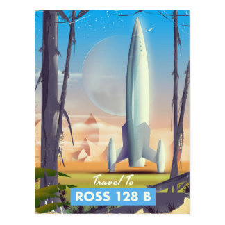 Ross 128 B Science fiction poster Postcard