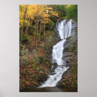 Ross Brook Falls Autumn Berkshires Waterfall Poster