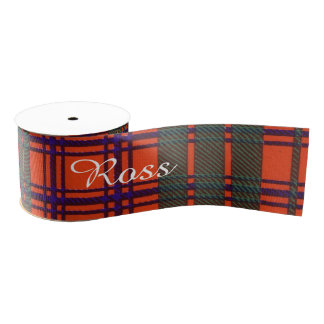 Ross clan Plaid Scottish tartan Grosgrain Ribbon