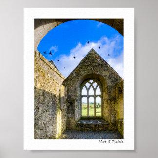 Ross Errilly Friary - Irish Ruins - Mini Poster