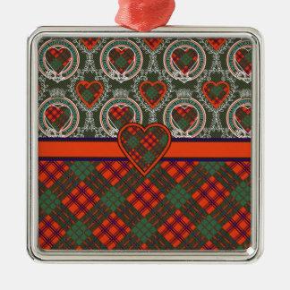 Ross Scottish Tartan Metal Ornament