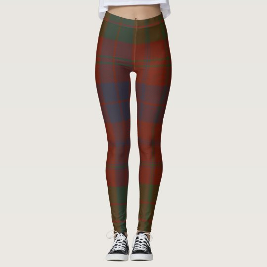 Ross Tartan Clan Plaid Leggings