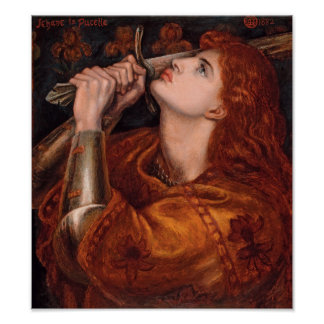 Rossetti Joan of Arc CC0761 Cardstock Poster