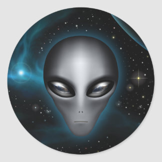 Roswell Alien II (sticker) Classic Round Sticker