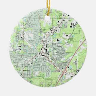 Roswell Georgia Map (1992) Ceramic Ornament