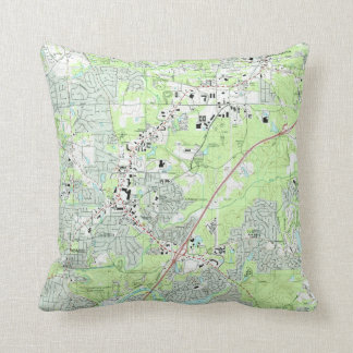 Roswell Georgia Map (1992) Throw Pillow