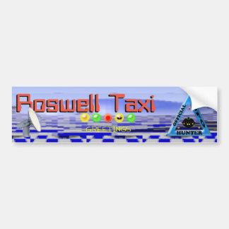 Roswell jokes Taxi Bumper Sticker