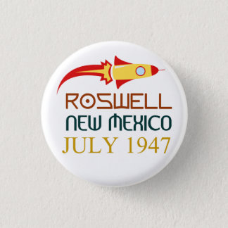 Roswell, New Mexico, july 1947 1 Inch Round Button