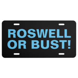 ROSWELL OR BUST! License Plate