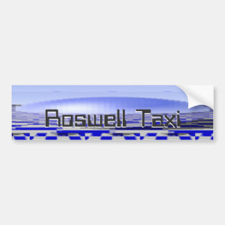 Roswell plaisante taxi autocollant de voiture