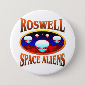Roswell Space Alien 3 Inch Round Button