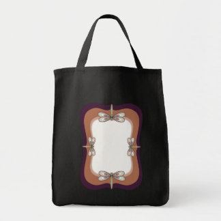 Rosy Art Nouveau Dragonfly Tote Bag