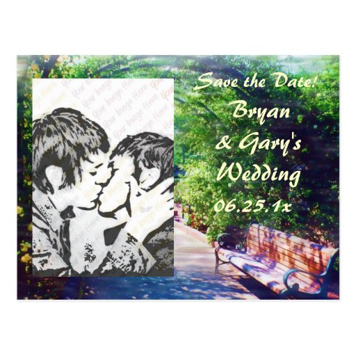 Rosy Bower WEDDING Save the Date Post Card