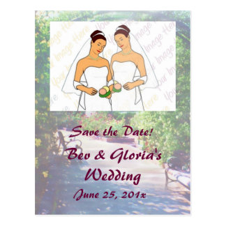 Rosy Bower WEDDING Save the Date Postcard