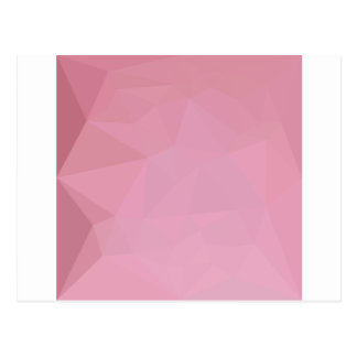 Rosy Brown Abstract Low Polygon Background Postcard
