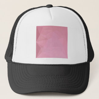 Rosy Brown Abstract Low Polygon Background Trucker Hat